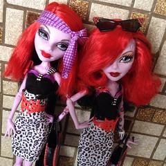 Who wear it the best ? (MyMonsterHighWorld) Tags: 3 fashion monster dance high doll wave class pack phantom mattel basic operetta