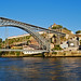 A view of Ponte Dom Luis I and Villa Nova de Gaia from the Ribeira - Porto, Portugal