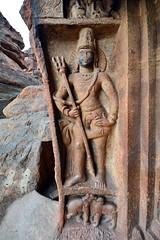India - Karnataka - Badami Caves - Shiva - 031 (asienman) Tags: india karnataka badami caves chalukyas architecture vatapi asienmanphotography shiva