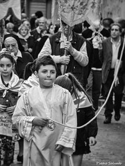 Street procession (PietroEsse) Tags: portrait blackandwhite child streetphotography streetlife biancoenero castellammaredistabia canonpowershots3is sancatello