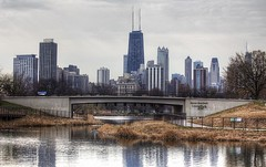 Chicago Skyline from Lincoln Park (F J R) Tags: chicago skyline pond scape nautre challengeyouwinner thechallengefactory