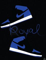 Royal (Moon Designs & Illustrations) Tags: blue white black illustration graphicart typography design graphicdesign graphic text indigo royal sneakers illustrator freelance cmyk sneakerporn lunargrafixx