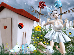 naive... (buffyholfe) Tags: bird secondlife blackkite ladybug swallow littlehouse dva lpd bauhausmovement