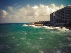 Sliema - Valletta - Anchor Bay, Malta (Drungli) Tags: travel seascape colors landscape island bay village malta anchor popeye sliema valletta drungli