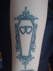 Black Ink Hearts Coffin Tattoo Design 144 (tattoos_addict) Tags: black tattoo ink hearts design coffin 144 hearttattoos
