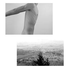 (nicholas dupont) Tags: light boy blackandwhite selfportrait france mountains nature nude landscape spring nikon diptych robertmapplethorpe nicholasdupont