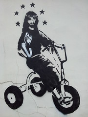 Karl Striker - Christ on a trike (XFile2708) Tags: graffiti christ karl trike teesside striker