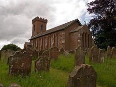 St Cuthberts Church Kirklinton (penlea1954) Tags: uk family england tower church st century de arch medieval norman cumbria cuthbert pillars gravestones chancel appleby kirklinton boyville