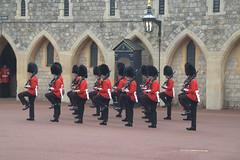 Changing the guard at Windsor Castle (Joybelle007) Tags: uk red castle nikon parade soldiers windsor guns windsorcastle busbys d90 changingtheguard