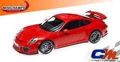 2014 Minichamps Porsche 911 GT3 Rood (www.curbstone-models.com) Tags: porsche rood modelcar dealer 118 minichamps 2013 911gt3 modelauto wap0210370e