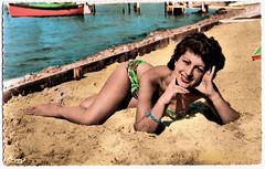 All I Desire (Truus, Bob & Jan too!) Tags: sea summer woman sexy beach girl vintage sweet postcard bikini bathing swimsuit pinup swimwear cartolina cim postkarte cartepostale ansichtskarte ansichtkaart beachwear postkaart briefkaart briefkarte tarjetpostal