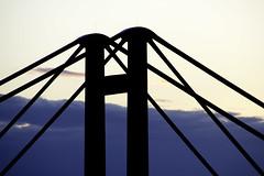 Willem Alexanderbrug (Joos foto's) Tags: silhouette zonsondergang brug avond bewolkt schemering