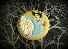 Alice in Wonderland Cookies: Alice falling (Honeycat Cookies) Tags: aliceinwonderland royalicing decoratedcookies