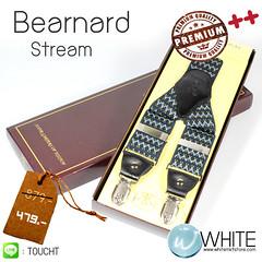 Bearnard Stream - สายเอี้ยม (Suspenders) สายสีน้ำเงินเข้ม ขนาดสาย กว้าง 3.5 เซนติเมตร (CT019)