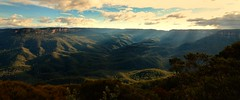Rays In The Valley (Trent B Clark) Tags: trees sunset sun mountains colour clouds forest landscape nikon mt australia hills valley nsw vegetation rays solitary katoomba leura wentworthfalls d7000