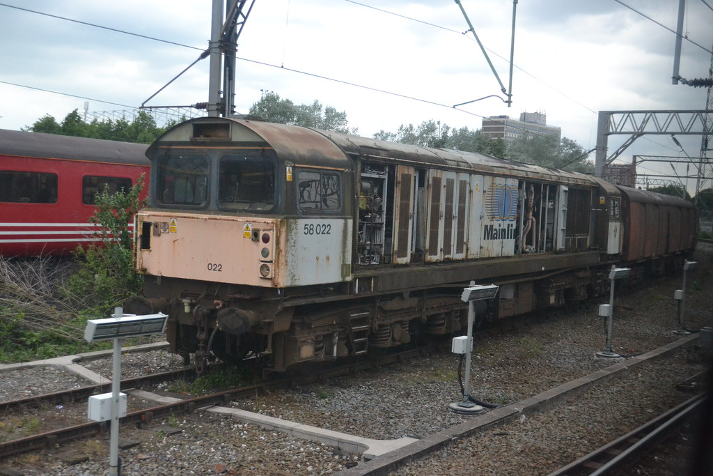 DB Schenker 58022 (Will Swain) Tags: uk travel england train cheshire  diesel britain