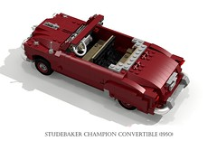 Studebaker Champion Convertible (1950) (lego911) Tags: auto classic car plane airplane model europe fighter lego pacific render aircraft air wwii champion indiana convertible aeroplane 1950s studebaker lightning bomber lockheed challenge 1950 1941 spinner cad 79 lugnuts povray moc softtop p38 ldd usaaf miniland turbosupercharge lego911 lugnutsgoeswingnuts