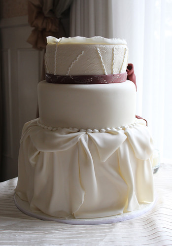 Dress Inspired Wedding Cake with fondant Draping