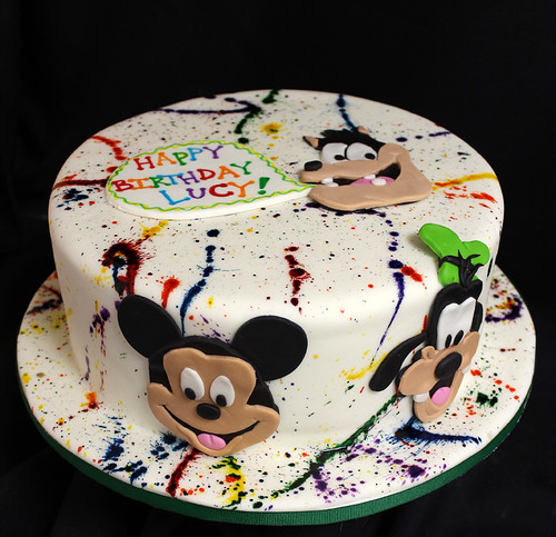 Paint Splatters Goofy Cake