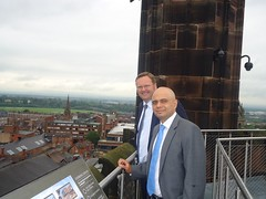 "Stephen Mosley MP and Culture Secretary Sajid Javid MP on tour of Cathedral at Height • <a style=""font-size:0.8em;"" href=""http://www.flickr.com/photos/51035458@N07/14389873195/"" target=""_blank"">View on Flickr</a>"