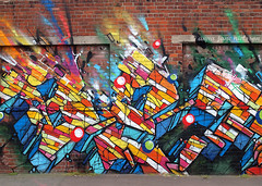 Mark-It Street Art Festival (.annajane) Tags: street streetart brick wall liverpool painting graffiti urbanart merseyside fetival markit newbirdstreet betarok75