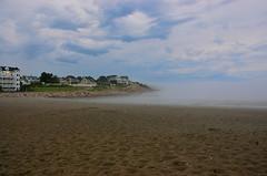 Into the Mystic (Kadeefoto) Tags: ocean beach fog capeneddick shortsandsbeach yorkme