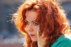 Blue Eyes (MaOrI1563) Tags: blue red italy girl hair florence eyes europa europe italia blu blueeyes occhi tuscany firenze toscana redhair rossi ragazza occhiblu rossa capellirossi maori1563