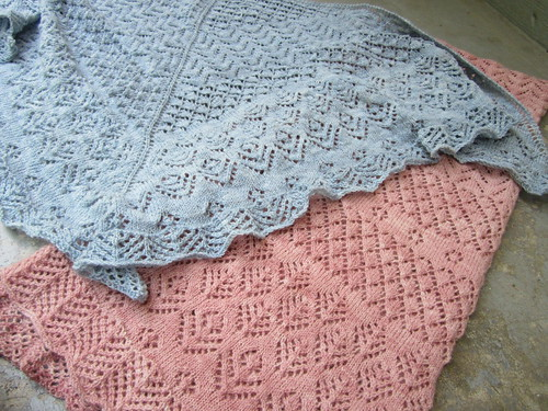 Liz and Elizabeth shawls