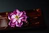 DSC_0066 (Bright Wish Kanzashi) Tags: purple lotus handmade gradation hairclip handdyed kanzashi hairornament