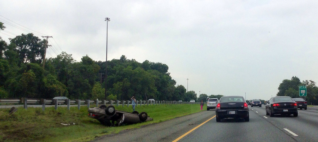 Accident on I-95N just south of Baltimor by brownpau, on Flickr