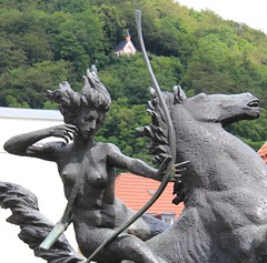 (:Linda:) Tags: sculpture horse woman germany nude town thuringia weapon suhl womansculpture peoplemadeofmetal