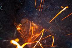 Pickaxe Striking Rock (marcovandermeer) Tags: longexposure silhouette exposure sparks pickaxe
