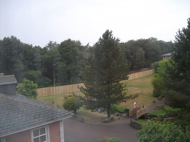 01/08/2014 - Work has also started in the Alton Towers Hotel garden, for the hotel and spa extension.