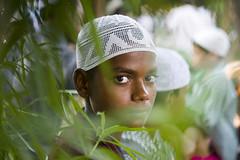 POC (Shubh M Singh) Tags: boy portrait people india leaves skull eyes bokeh muslim eid cap ul fitr chandigarh 2014 punja