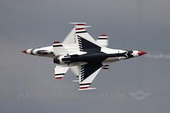 USAF Thunderbirds (Flightline Aviation Media) Tags: airplane aircraft aviation military jet bad airshow f16 thunderbirds airforce lockheed usaf base stockphoto barksdale fightingfalcon canon50d kbad bruceleibowitz majblainejones majjasoncurtis 7841253
