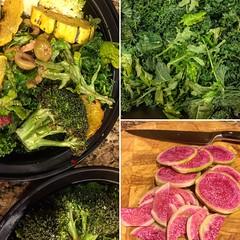 Antipasto- Style Kale Bowl (Vegan Feast Catering) Tags: salad bowl kale pickled radish
