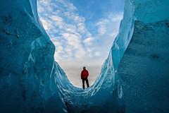 Within the Skaftafellsjökull Glacier - Iceland (Craig Hannah) Tags: skaftafellsjökullglacier ice iceland glacier crevasse walk stroll icecave hole sky clouds roadtrip craighannah february 2017 winter bubbles formation climber