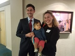 Jon Ossoff, Paige Rohe and little Robin