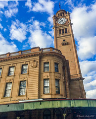 Central Railway Station clocktower (NettyA) Tags: 2017 australia centralrailwaystation nsw newsouthwales sydney buildings haymarket au clocktower appleiphone6