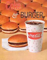 1960s Coke & Burger sign (Tom Simpson) Tags: hamburger cocacola burger vintage coke foodporn fastfood cheeseburger 1960s ad ads advertising advertisement vintagead vintageads drink soda food