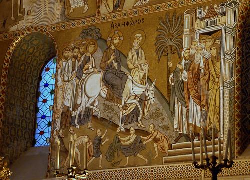 Palermo, Palazzo dei Normanni, Cappella Palatina, Einzug Jesu in Jerusalem (Jesus' entry into Jerusalem)