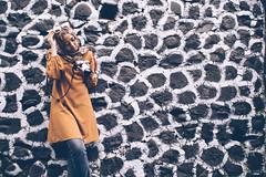 at Kampung Warna Warni Jodipan Malang (Luqman Agung W) Tags: hijab fashion malang jodipan kwj colorful model wisata