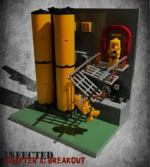 Infected – Chapter X: Breakout (RC 1136) Tags: lego zombie infection braaiiinnss