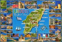 Rhodes map, Greece (caijsa's postcards) Tags: maps greece rodos rhodes multiview islands