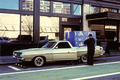 SW Stark Street (Button2PushButtons) Tags: 35mm portlandor parkedinportland color slide positive e6 film nikon f100 fujichrome provia