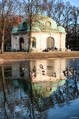 spring is in the air (lichtauf35) Tags: nymphenburg reflection pancake architecture shorttrip walking amnymphenburgerkanal bestplaces munich2017 waterreflection sl1 1000views hubertusbrunnen lichtauf35