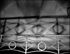 20071230-1513 (sulamith.sallmann) Tags: abstract abstrakt bauteile blur blurry bw geländer schatten shadow sw unscharf unschärfe unsharp verschwommen saarland deutschland deu sulamithsallmann