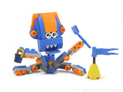 Scrapped Custom Mixel # 2 (Unijob Lindo) Tags: lego mixel mixels leg godt bricks brick toy squid kid shovel sand castle beach ocean happy monster creature cephalopod octopus joints orange blue slope sloves curved utensil tentacles tentacle yellow flag bucket water teeth googly eyes goggly eye cute kawaii unfinished scrap scrapped prototype
