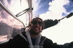 Messy (Ed.ward) Tags: saalbach austria skiing holiday film fujichrome velvia rvp135 edward sunglasses raybans aviators messyhair fatchin chairlift trees snow 2016 nikonf80 nikonaffisheyenikkor16mmf28d