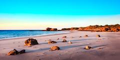 Top End Beach (pipes070) Tags: broome beach ocean rocks coast coastline water sea landscape sunsire morning